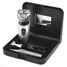 PRITECH 3 IN 1 SHAVER & TRIMMER MENS ROTARY SHAVER SET WITH HAIR NOSE TRIMMER