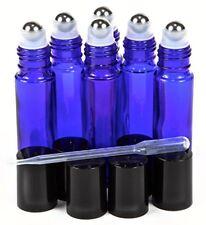 Botellas Roll-On Azul Con Cuentagotas Aceites Esenciales Perfumes Líquidos