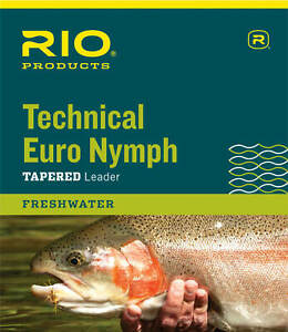 RIO Technical Euro Nymph Leader With Tippet Ring