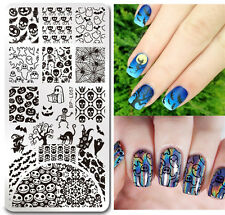 Nail Art Stamping Template Halloween Pumpkin Style Image BORN PRETTY Plates L057