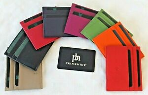 Slim Leather Credit Card Holder  *  Various Vibrant Colours by Prime hide