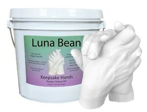 Luna Bean KEEPSAKE HANDS CASTING KIT Couples, Wedding, Holding Baby Plaster Mold