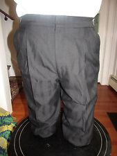 MENS BLACK WOOL TUXEDO PANTS WEAVE STRIPE DESIGN SIZE 42-44