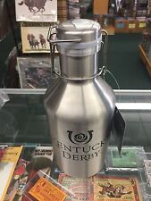 Kentucky Derby Stainless Steel Swing Top 64 Ounce  Growler Hot or Cold use