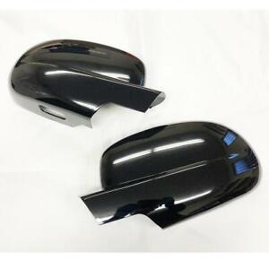 GLOSS BLACK SIDE FULL MIRROR COVER For 07-13 Chevy Avalanche-Tahoe-Suburban