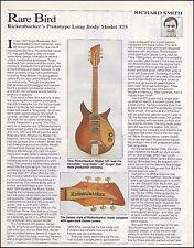 Rickenbacker 1957 Long Body Model 325 electric guitar 8 x 11 two page article