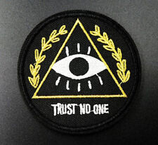 Trust No One Illuminati Eye Embroidered Iron On Patches Badges Transfers Patch