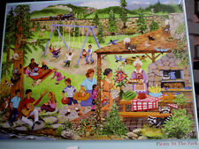 """New 300 Piece Sandy Rusinko Art Puzzle""""Picnic in the Park"""" Large Format 18""""x24"""""""