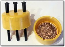 NAIL SPIKE THROUGH THRU 1p PENNY COIN MAGIC MONEY TRICK TUBE CLOSE UP VIDEO DEMO