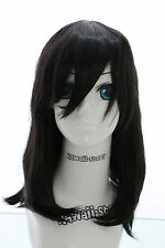 W-02-BC01 schwarz black 40cm COSPLAY Perücke WIG Perruque Haare Anime Manga