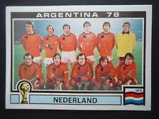 Panini 118 Team Nederland Niederlande WM 78 World Cup Story