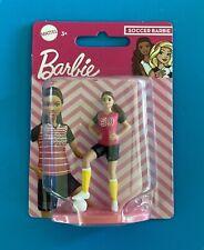 "Mattel Soccer Barbie 3"" Mini Figure Cake Topper. New in package."