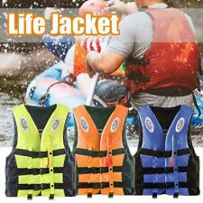 Adult Kids Life Jacket Swimming Buoyancy Aid Polyester Vest Float Whistle