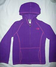 The North Face Purple fleece hooded full zip activewear jacket Girls L 14/16