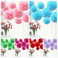 9PCs Mixed size Theme Mixed Tissue Paper Pompoms Fluffy Flower Ball Pom Poms