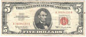 United States 5 Dollars 1963