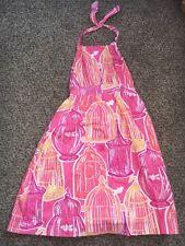 Girls Lilly Pulitzer Bird Cages Summer Halter Dress Size 8 EUC