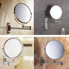 Two-Sided 10x Magnifying Wall Mount Swivel Make up Shaving Mirror Extendable US