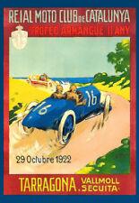 Reial Moto Club de Catalunya Tarragona1922 Racing Auto Race Car  Poster Print