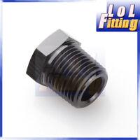 3/4'' NPT Male to 3/8'' NPT Female Straight Adapter Fitting Aluminum Alloy Black
