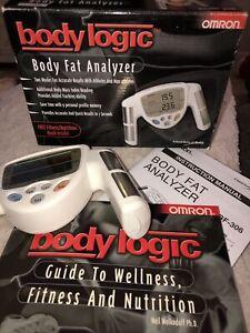 Omron HBF-306BL - HandHeld Body Logic Body Fat Analyzer - in box & instructions