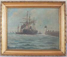 hst huile sur toile marine signé A.Fournier peinture tableau