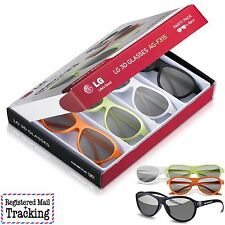 LG AG-F315 4 Pack of 3D Glasses for LG Cinema 3D TVs - Party Pack