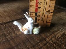 Vintage Bisque Rabbit  Birthday Candle Holder, Made In Germany