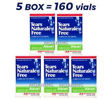 5 Box = 160 Vial x0.8ML Alcon TEARS NATURALE FREE Lubricant Eye Drop EXP:10/2021