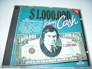 Johnny Cash - one million dollars cash RARE Polystar cd