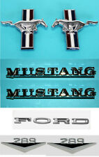 NEW! 1965-1966 Ford Mustang V8 289 Emblem Kit Running Horse Script and Fenders