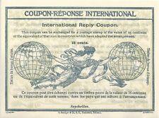 Seychelles  - Coupon-réponse international - Modèle Rome - 18 cents  - MNH