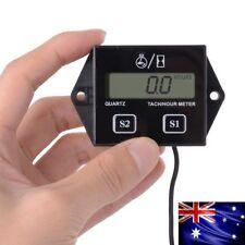 2 / 4 stroke Gas Engines ATV UTV Digital Tach Hour Meter Tachometer Gauge Black