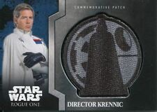 Star Wars Rogue One Mission Briefing Commemorative Patch Card MP-5 Dir Krennic