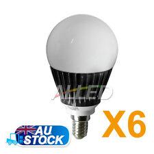 6X240V LED E14 Globe Lamp 6W Warm White DownLight Cabinet/Garden/Ceiling/Replace