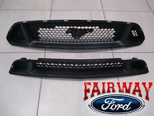 15 thru 17 Mustang OEM Ford 5.0L GT Upper & Lower Grille without Emblem 2-pc NEW