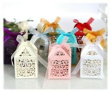Laser Cut Flower Candy Boxes Bridal Shower Wedding Favor Gift Box