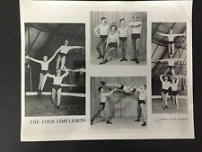 RARE VINTAGE CIRCUS FREAKS: The Four Limelights - Circus Acrobats Montage Photo