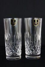Edinburgh Crystal Appin Cut 2 Highball Tumblers Glasses Etched c1950's 14.5cm