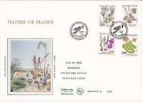 Enveloppe grand format 1er jour 1992 GF Soie Nature de France Série Fleurs