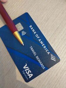 NEW Bank of America Visa Credit Card THICK