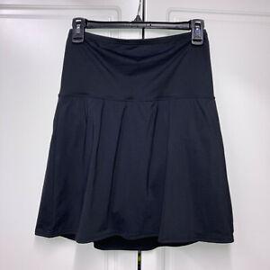 Lands End Tummy Control High Waisted Modest Swim Skirt Bottoms Black Size 10