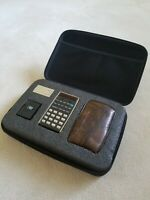 Hewlett Packard HP-21 Calculator, Pouch, Battery Pack, Charger, Carrying Case