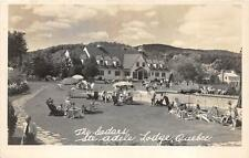 RPPC THE CEDARS STE ADELE LODGE QUEBEC CANADA REAL PHOTO POSTCARD 1950