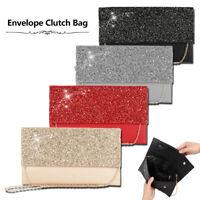 Lady Flat Oversize Envelope Clutch Bag Faux Leather Evening Party HandbagBM