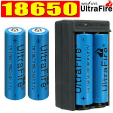 4PC UltraFire 18650 Quality Battery Rechargeable 3.7v Li-ion Batteries & Charger