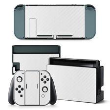 White Carbon - Nintendo Switch Protective Skin 4 Pc Sticker Set