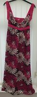 Ladies sleeveless maxi sun dress size 12 from Next pink floral print