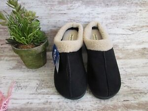 BOBS For Sketchers Memory Foam Womens Slippers House shoes Black Gray Size 10