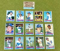 1976 TOPPS BASEBALL CHICAGO CUBS COMPLETE TEAM SET (25) S.STONE, RICK MONDAY